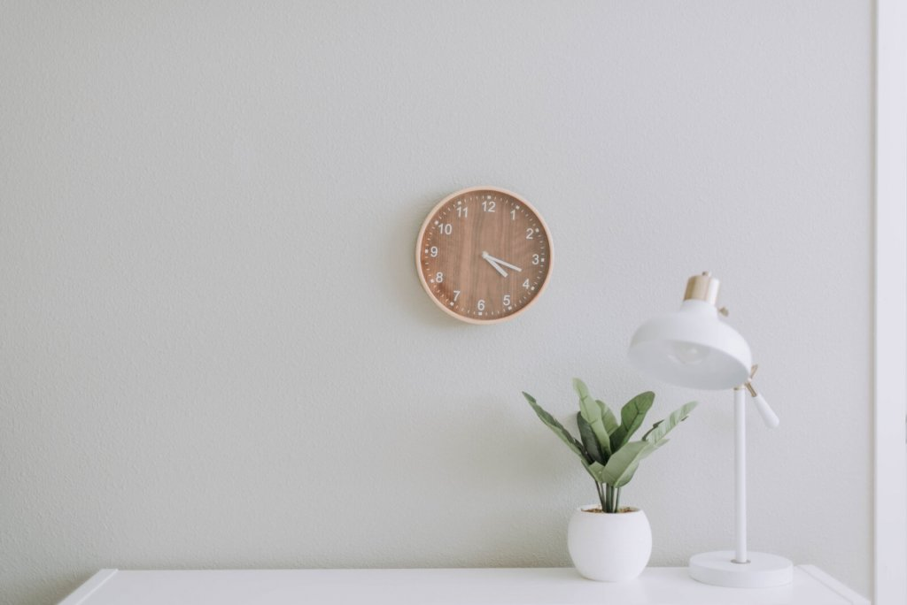 using fun wall clock in the home office