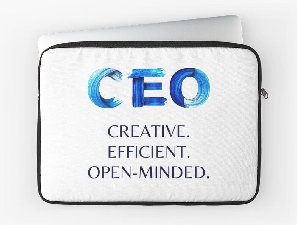 motivational laptop sleeve will make a cool professional gift for any CEO