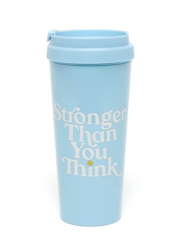 stronger than you think motivational thermal mug