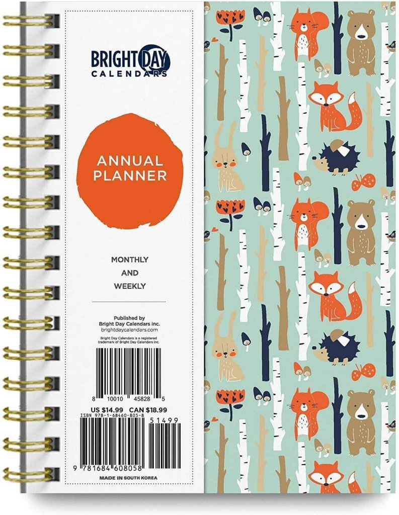bright day calendars annual planner