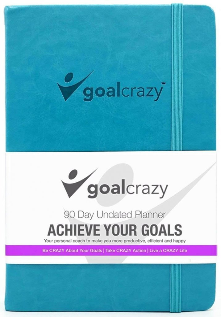 goal crazy undated planner for personal productivity and goal setting