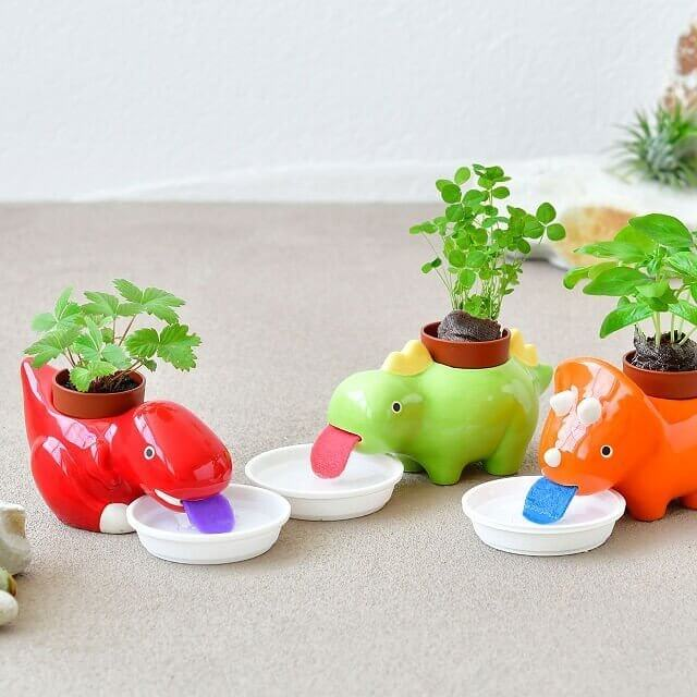 cute dinosaur planters is another fun gift idea for office desk