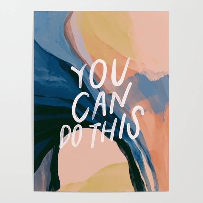 you can do this motivational poster