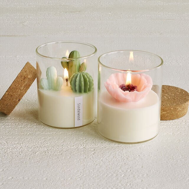 beautiful terrarium candle is a perfect addition for your home office