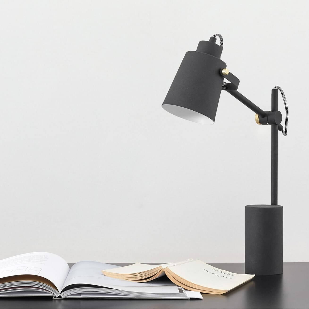 Seppo Table Lamp, Black decor for home office