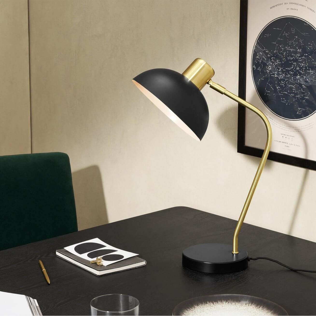 Cheston Table Lamp, Black decor for home office